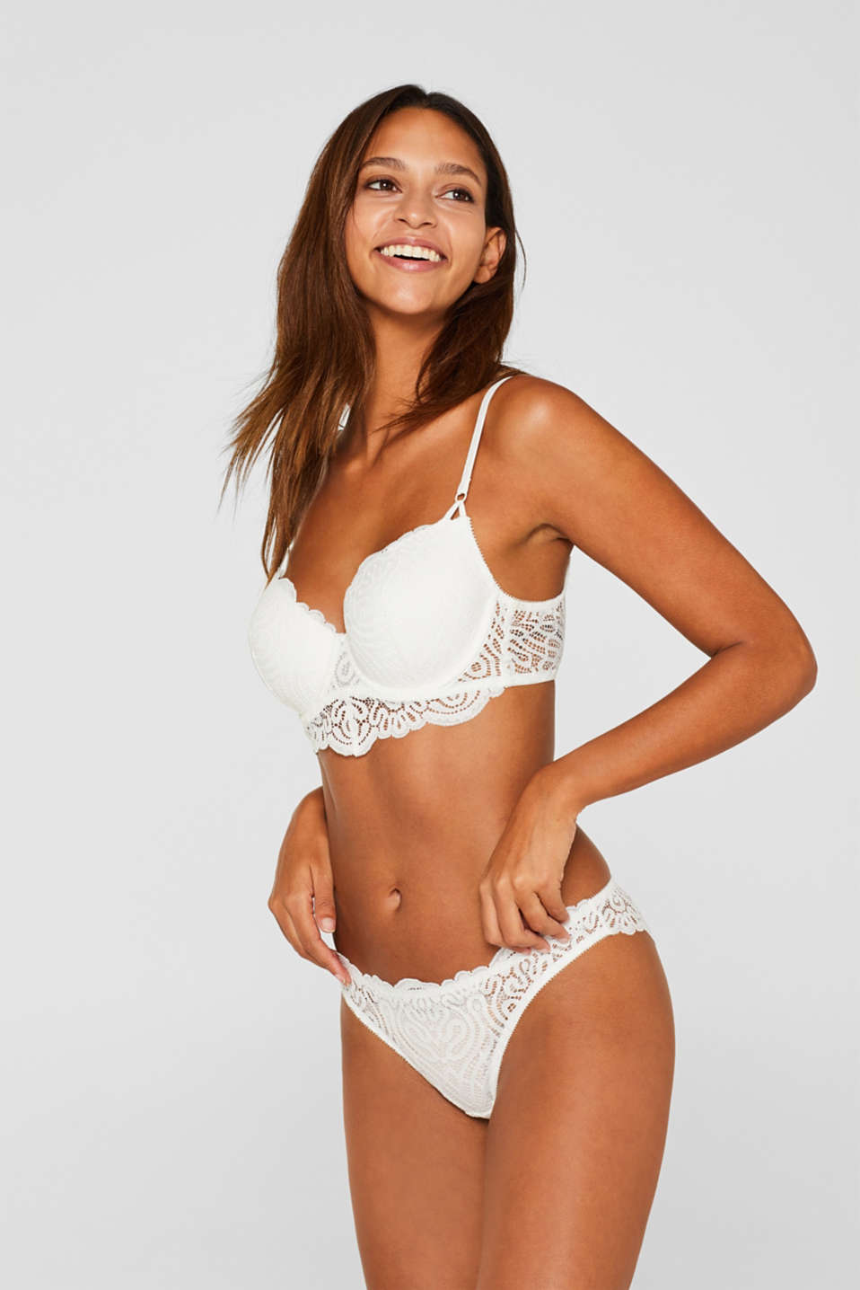 Hipster briefs in decorative lace, OFF WHITE, detail image number 0
