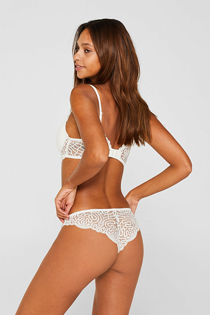 Hipster briefs in decorative lace, OFF WHITE, detail image number 2
