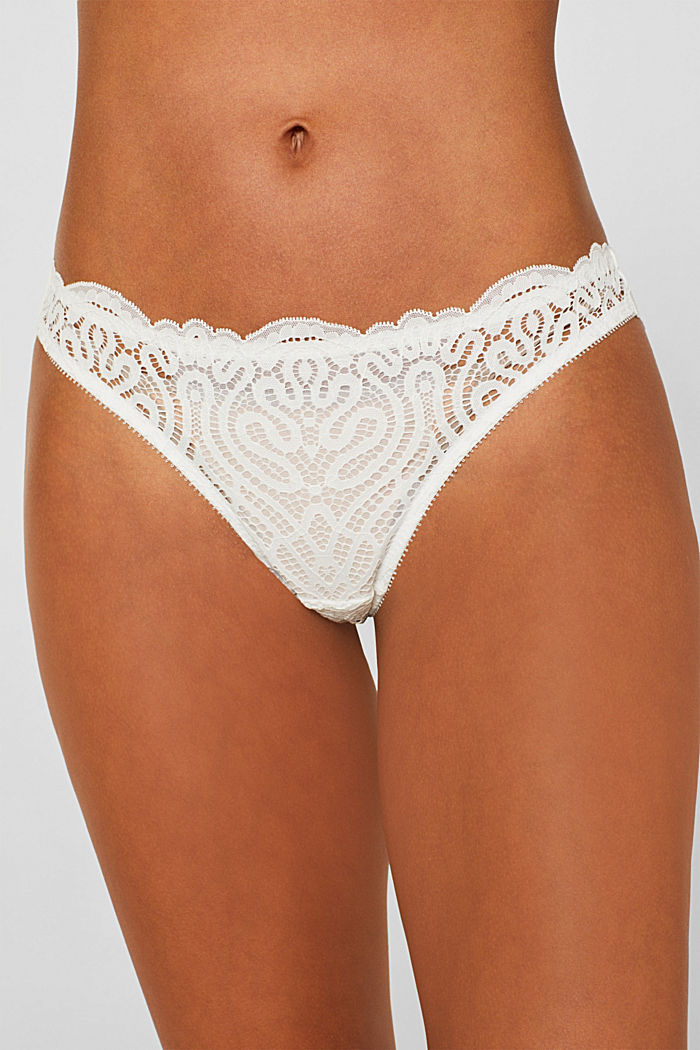 Hipster briefs in decorative lace, OFF WHITE, detail image number 1