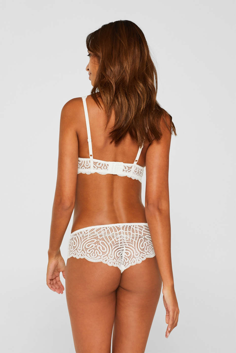 Hipster shorts in decorative lace, OFF WHITE, detail image number 2