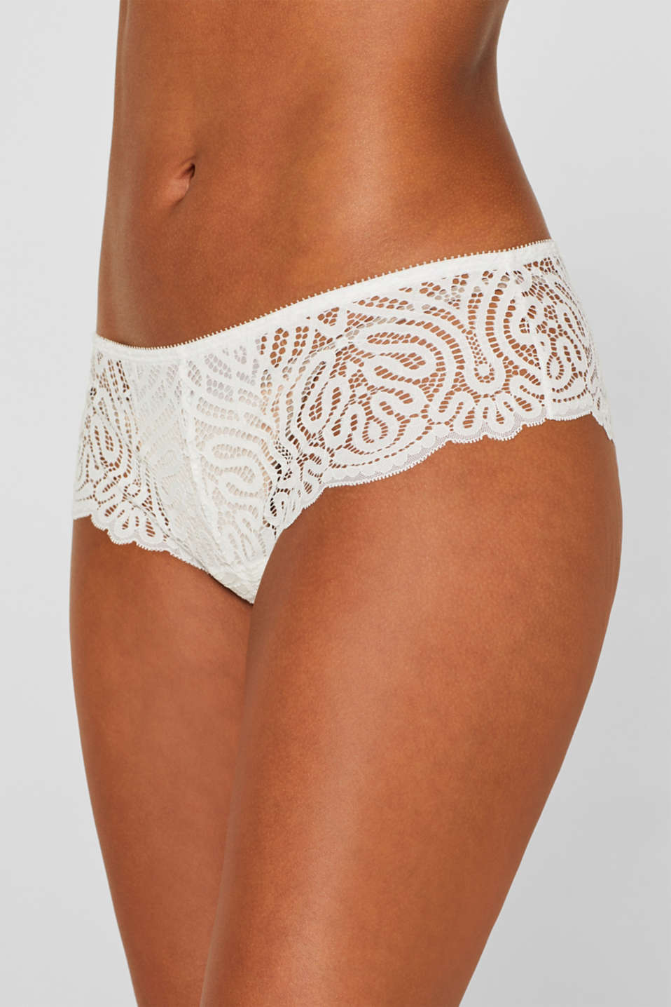 Hipster shorts in decorative lace, OFF WHITE, detail image number 1