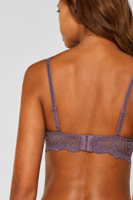Push-up bra in decorative lace, BERRY PURPLE, detail