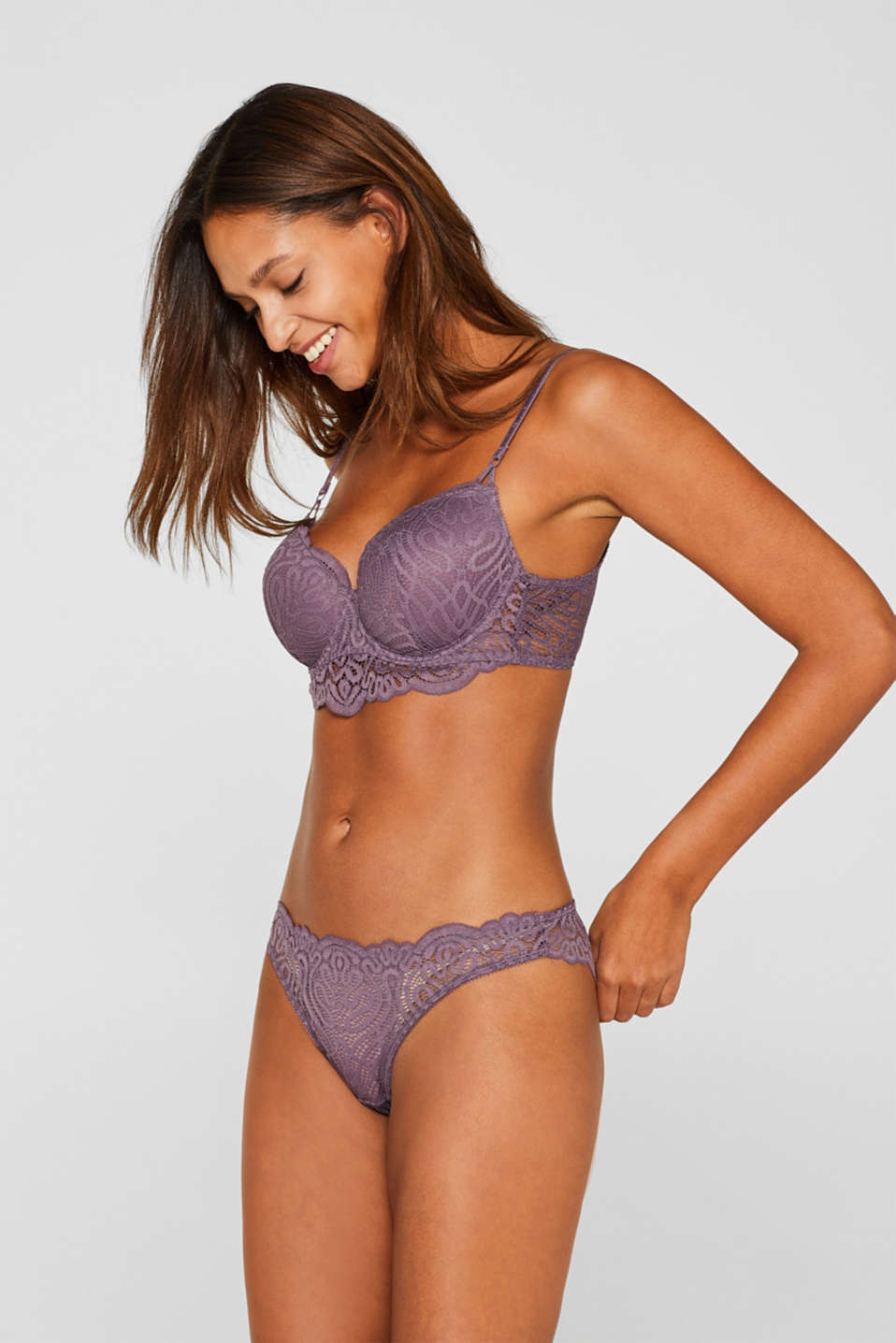 Hipster briefs in decorative lace, BERRY PURPLE, detail image number 0