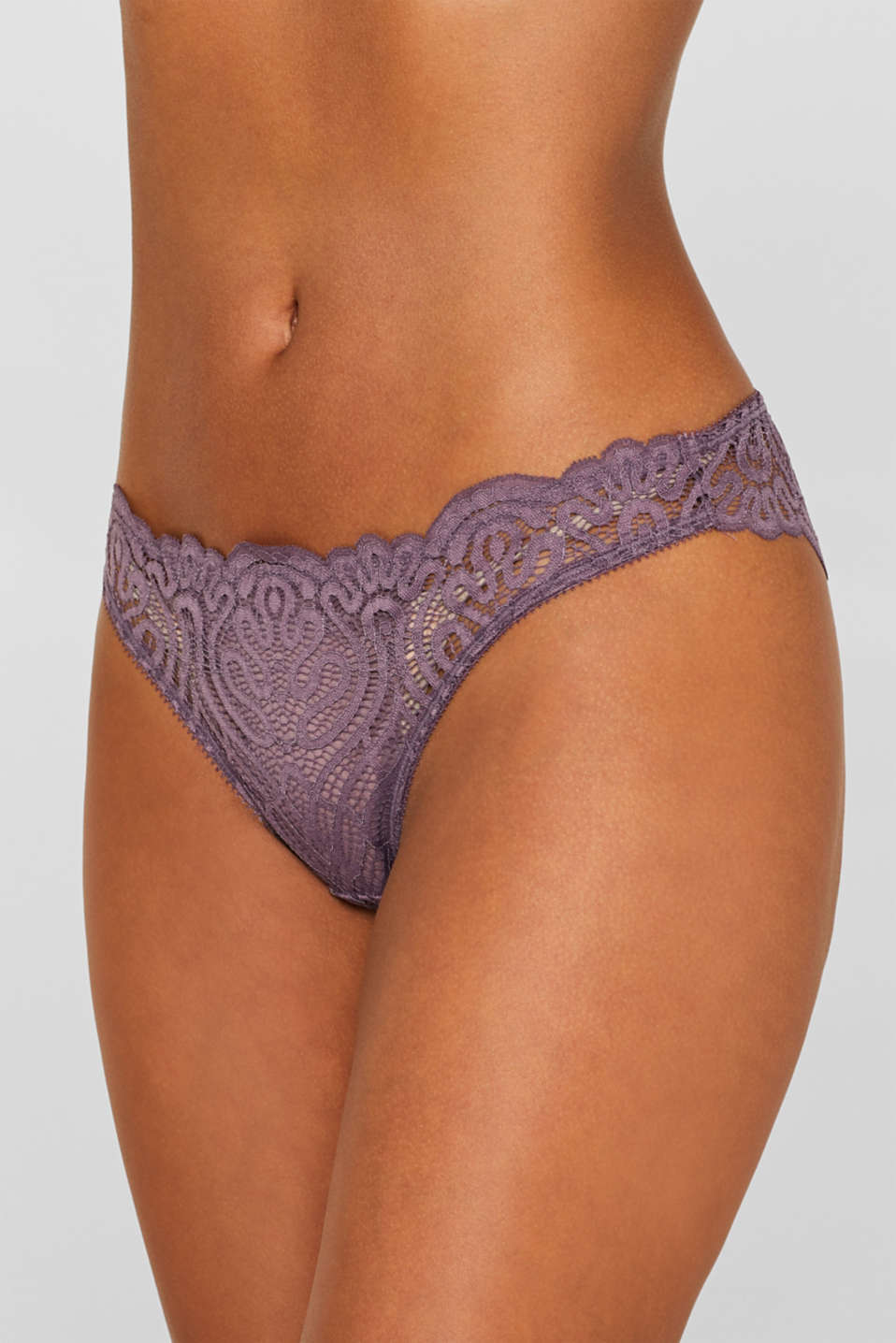 Hipster briefs in decorative lace, BERRY PURPLE, detail image number 1