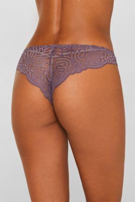Hipster briefs in decorative lace, BERRY PURPLE, detail