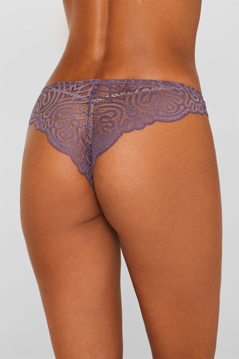 Hipster briefs in decorative lace, BERRY PURPLE, detail image number 3