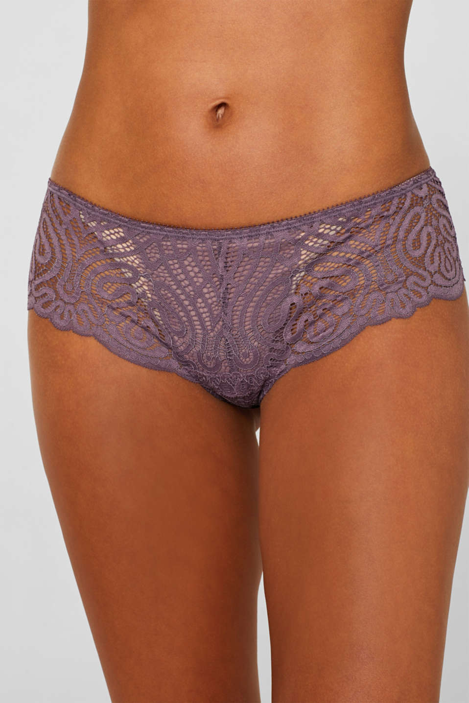 Hipster shorts in decorative lace, BERRY PURPLE, detail image number 1