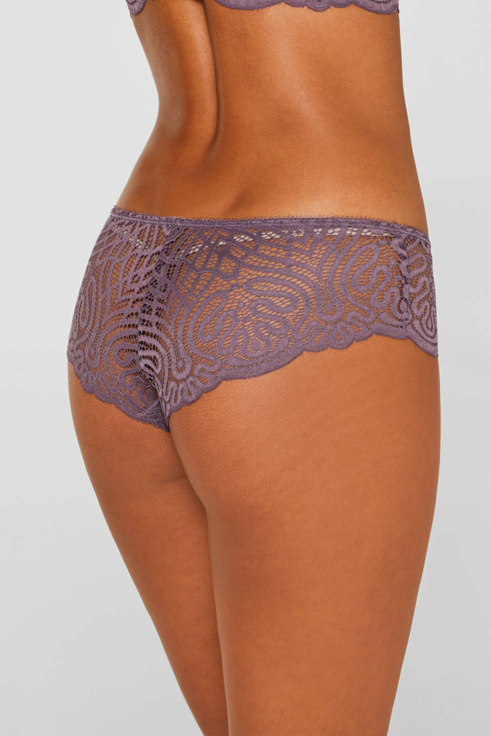 Hipster shorts in decorative lace, BERRY PURPLE, detail image number 3