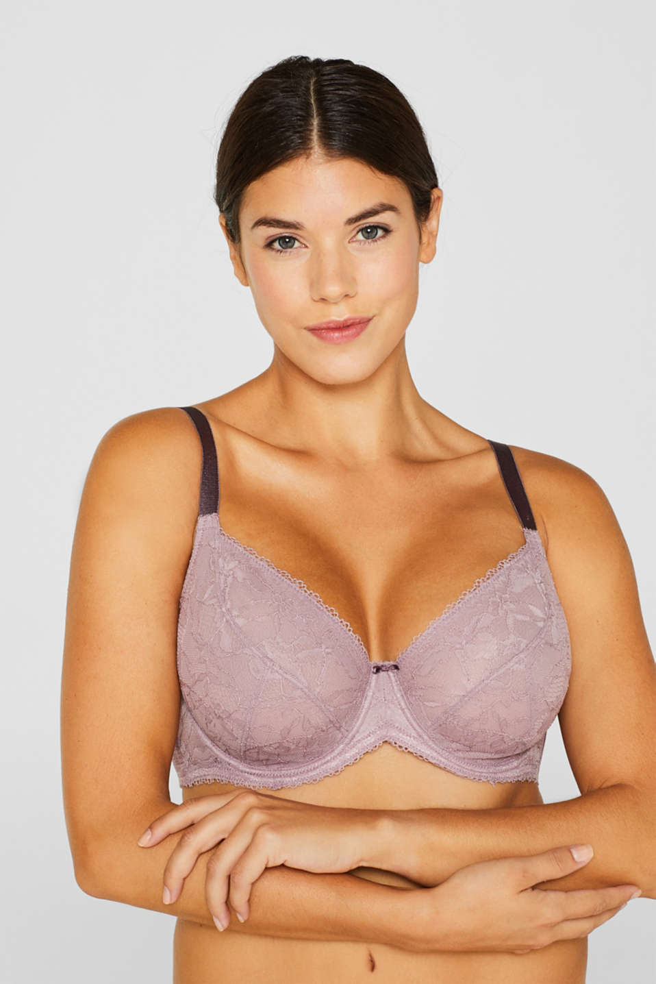 Bras with wire, MAUVE, detail image number 2