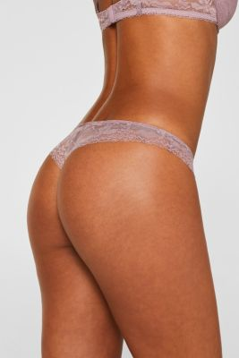 Hipster thong made of jersey/lace