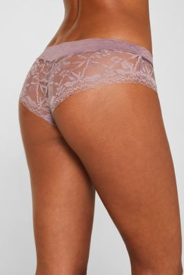 Jersey/lace hipster shorts