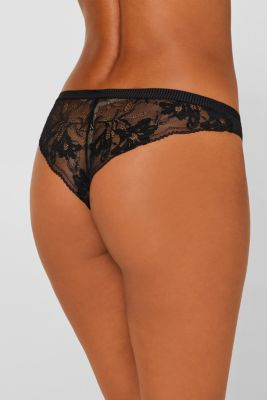 Hipster briefs with lace and stripes, BLACK, detail