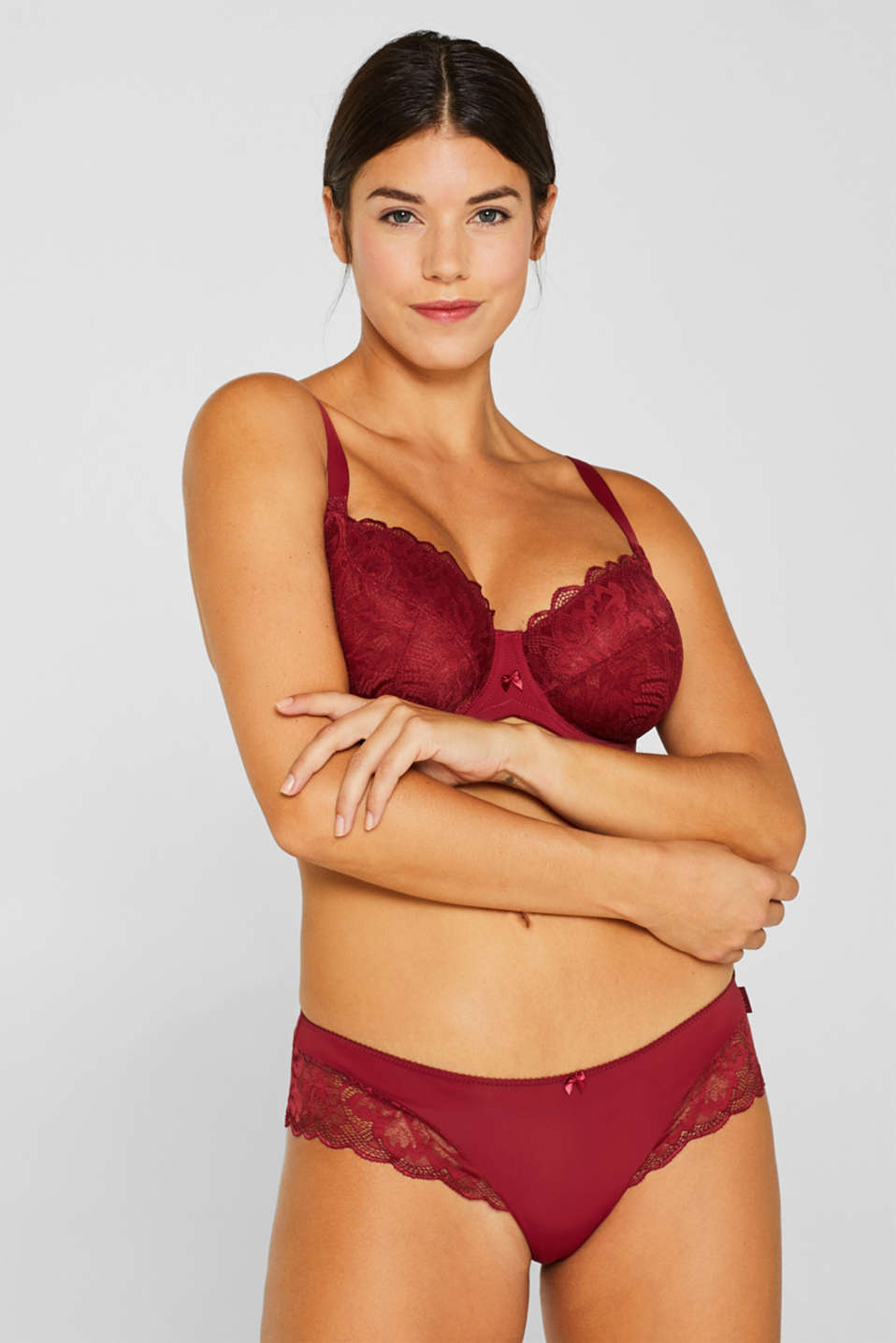 Esprit - Unpadded lace bra for larger cup sizes
