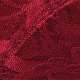 Padded, non-wired bra made of shiny, matte lace, DARK RED, swatch