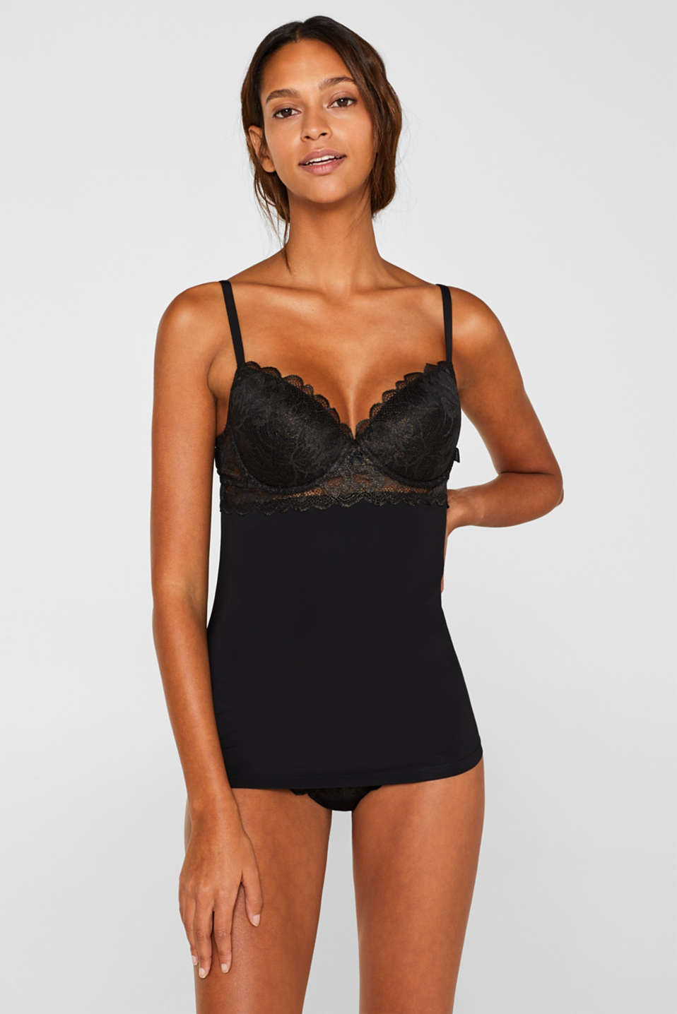 Esprit - Camisole with formal lace