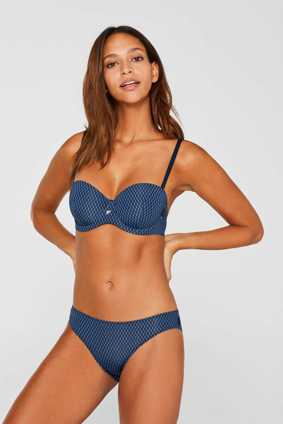 Underwire bra with detachable straps, NAVY, detail image number 0
