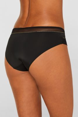 Hipster shorts with mesh and glitter, BLACK, detail