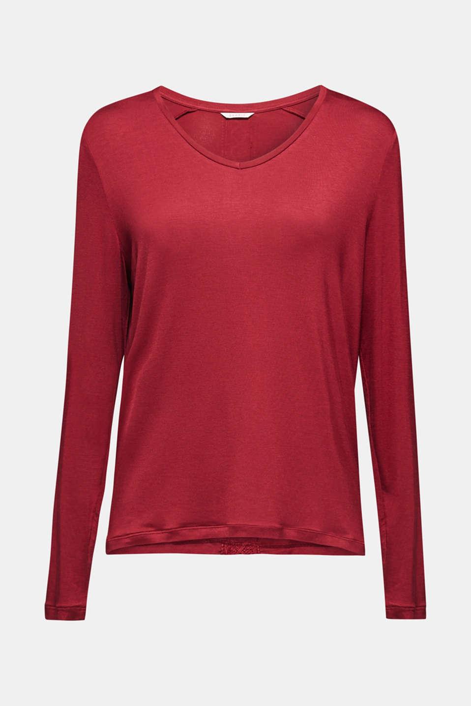 Night-T-Shirts, DARK RED, detail image number 5