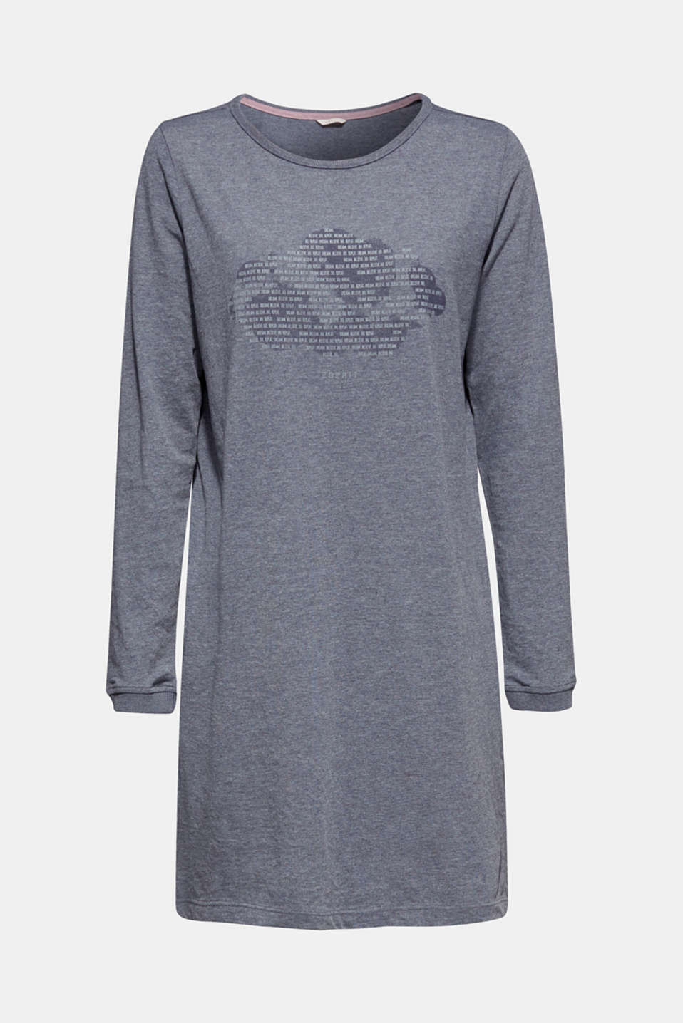 Jersey nightshirt with a print, NAVY, detail image number 6