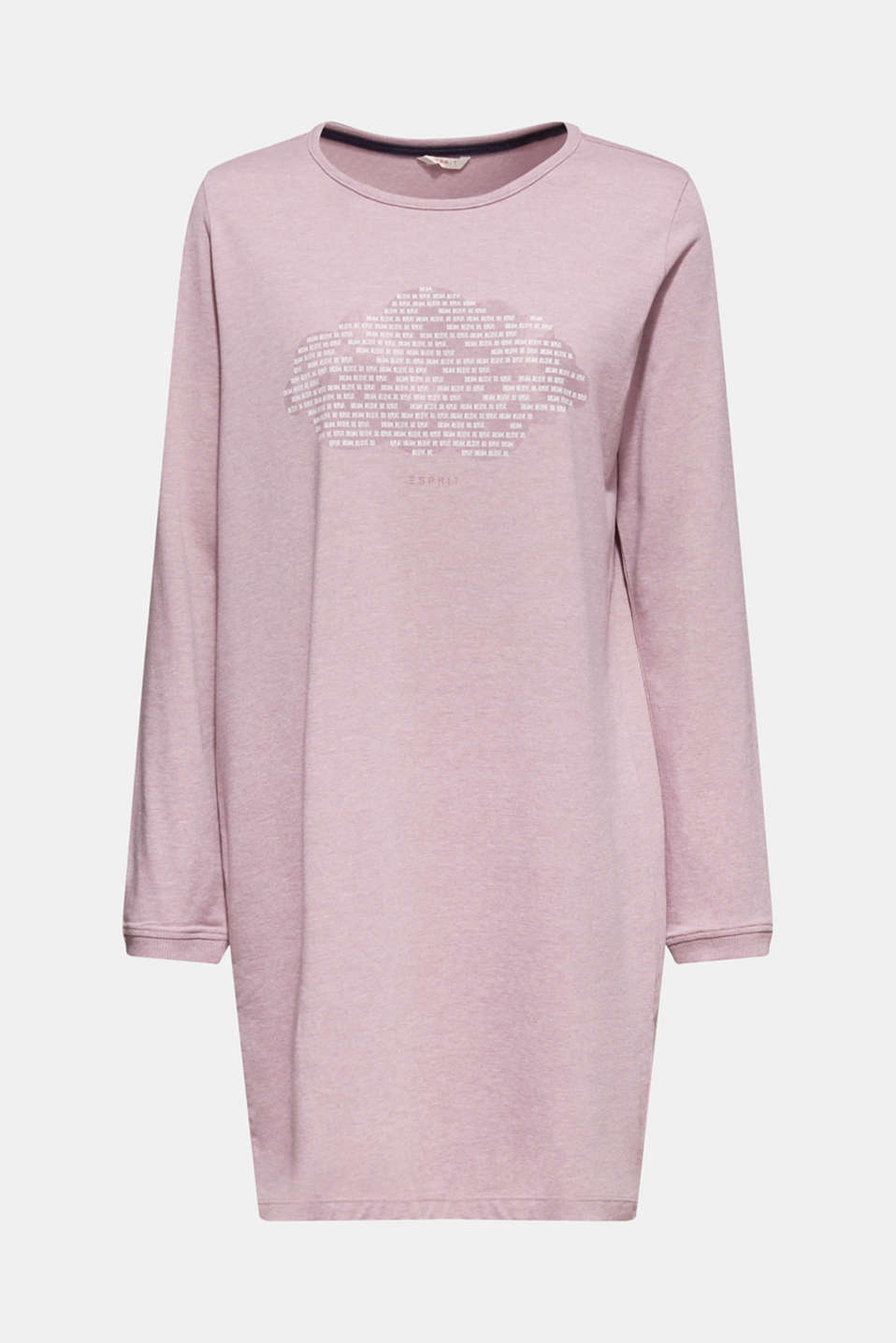 Jersey nightshirt with a print, MAUVE, detail image number 5