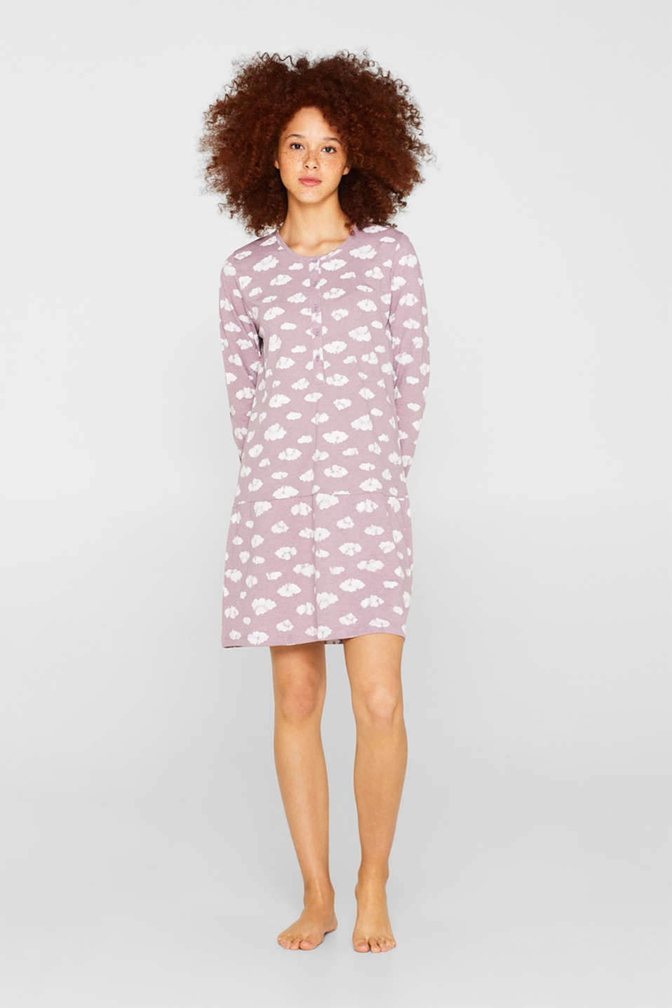 Esprit - Jersey nightshirt with a print