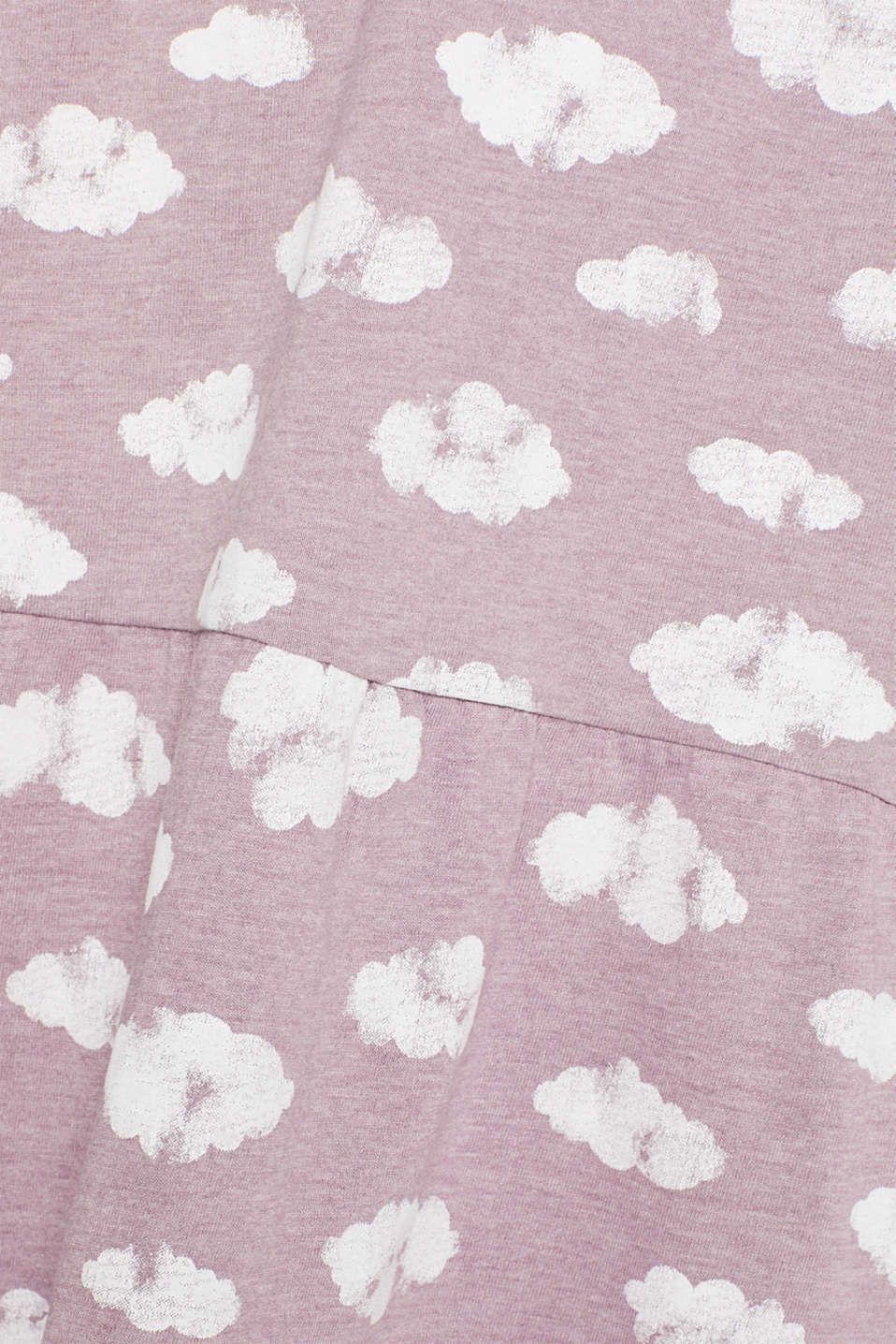 Jersey nightshirt with a print, MAUVE, detail image number 4