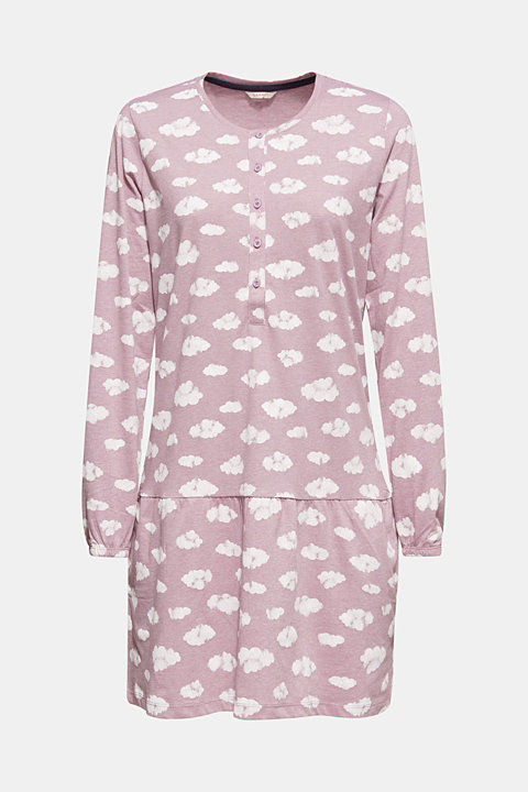 Jersey nightshirt with a print