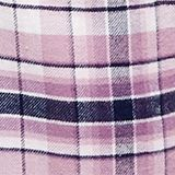Flannel bottoms with satin ties, 100% cotton, NAVY, swatch
