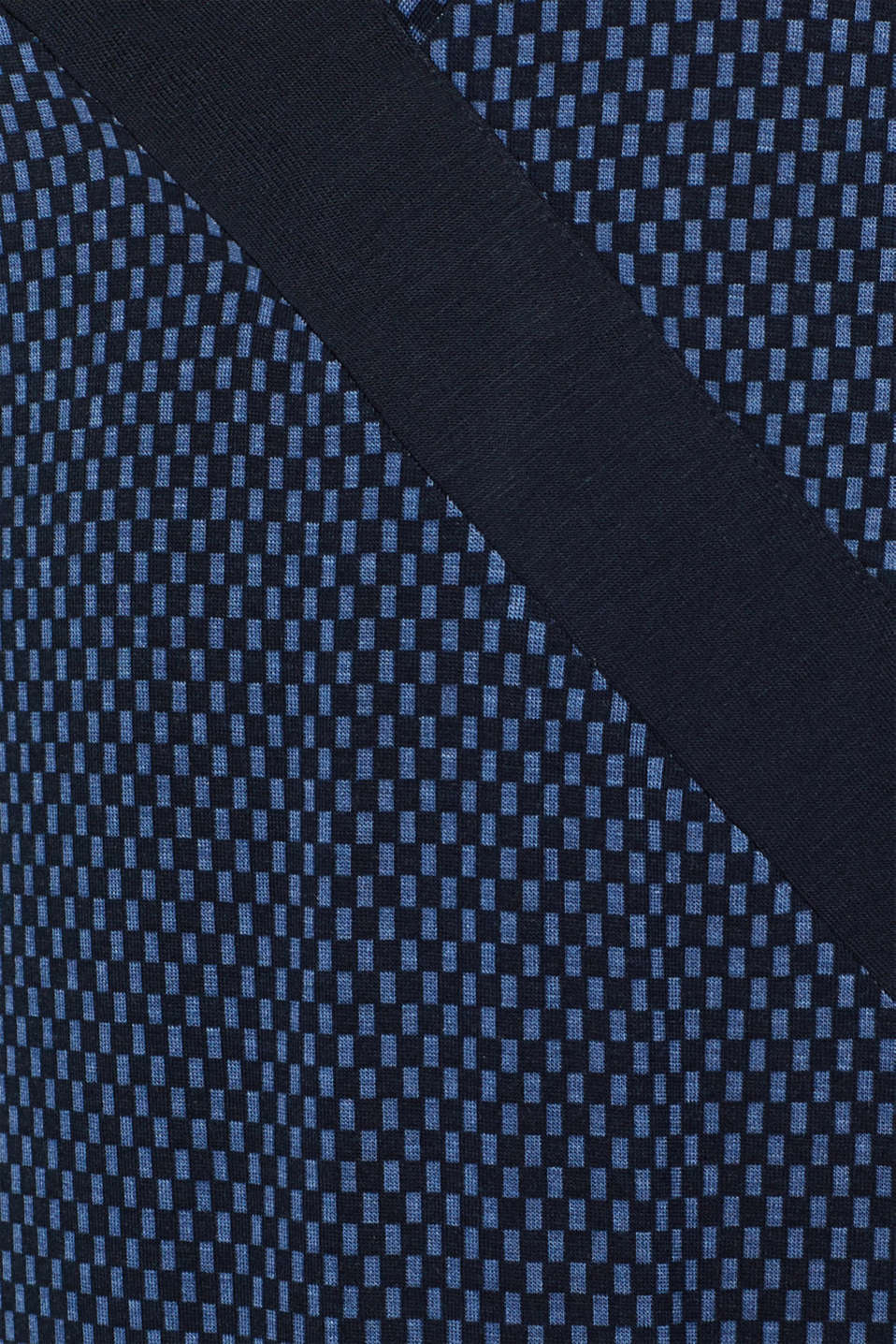Stretch jersey chemise with checks, NAVY, detail image number 4