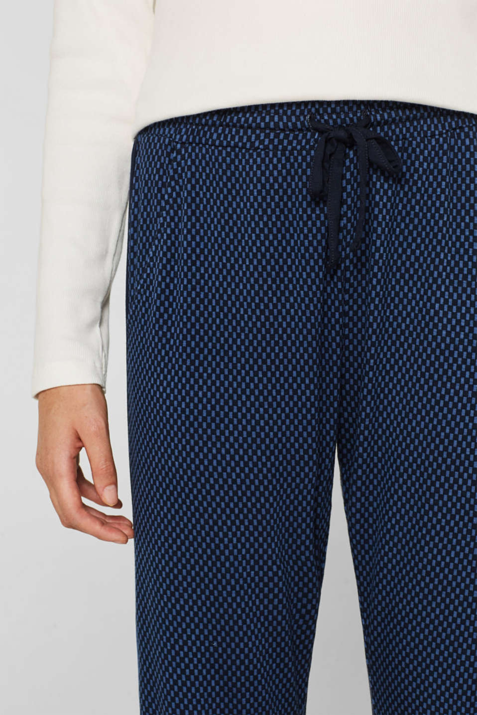 Stretch jersey trousers with racing stripes, NAVY, detail image number 2
