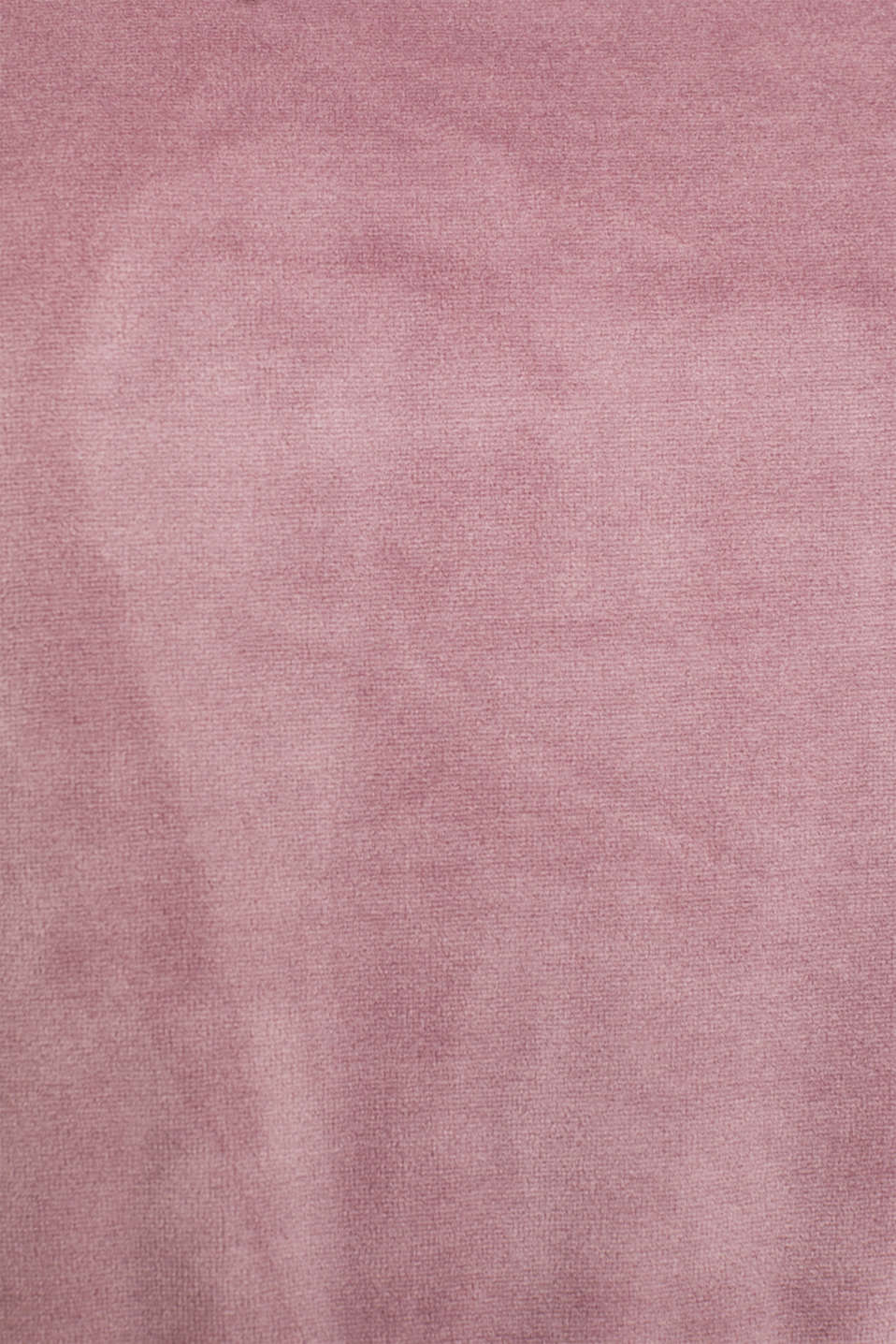 Velour sweatshirt with ribbed cuffs and waistband, MAUVE, detail image number 4