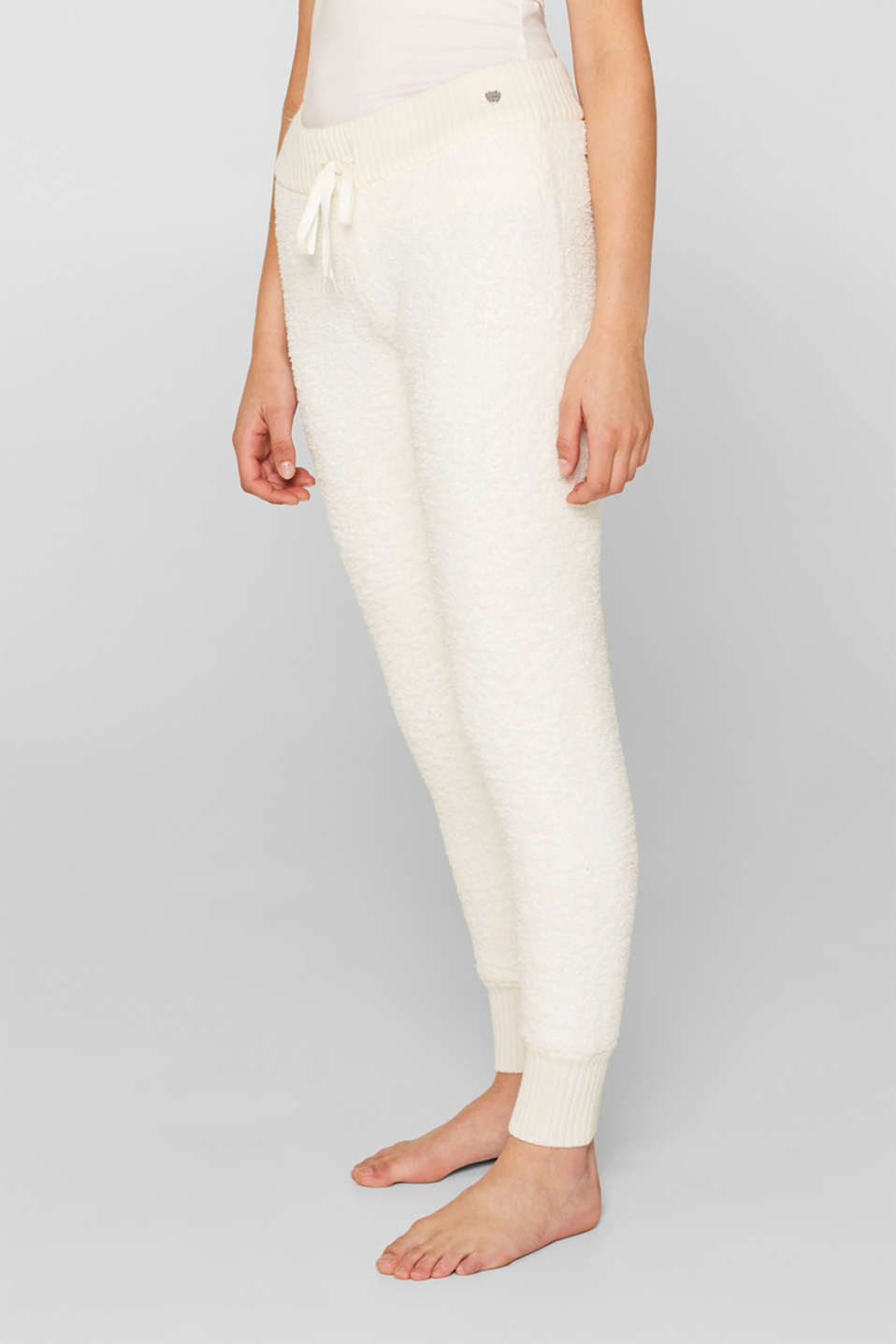 Cosy lounge trousers, OFF WHITE, detail image number 0