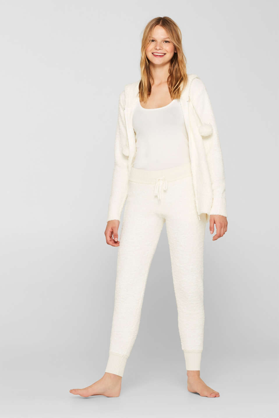 Cosy lounge trousers, OFF WHITE, detail
