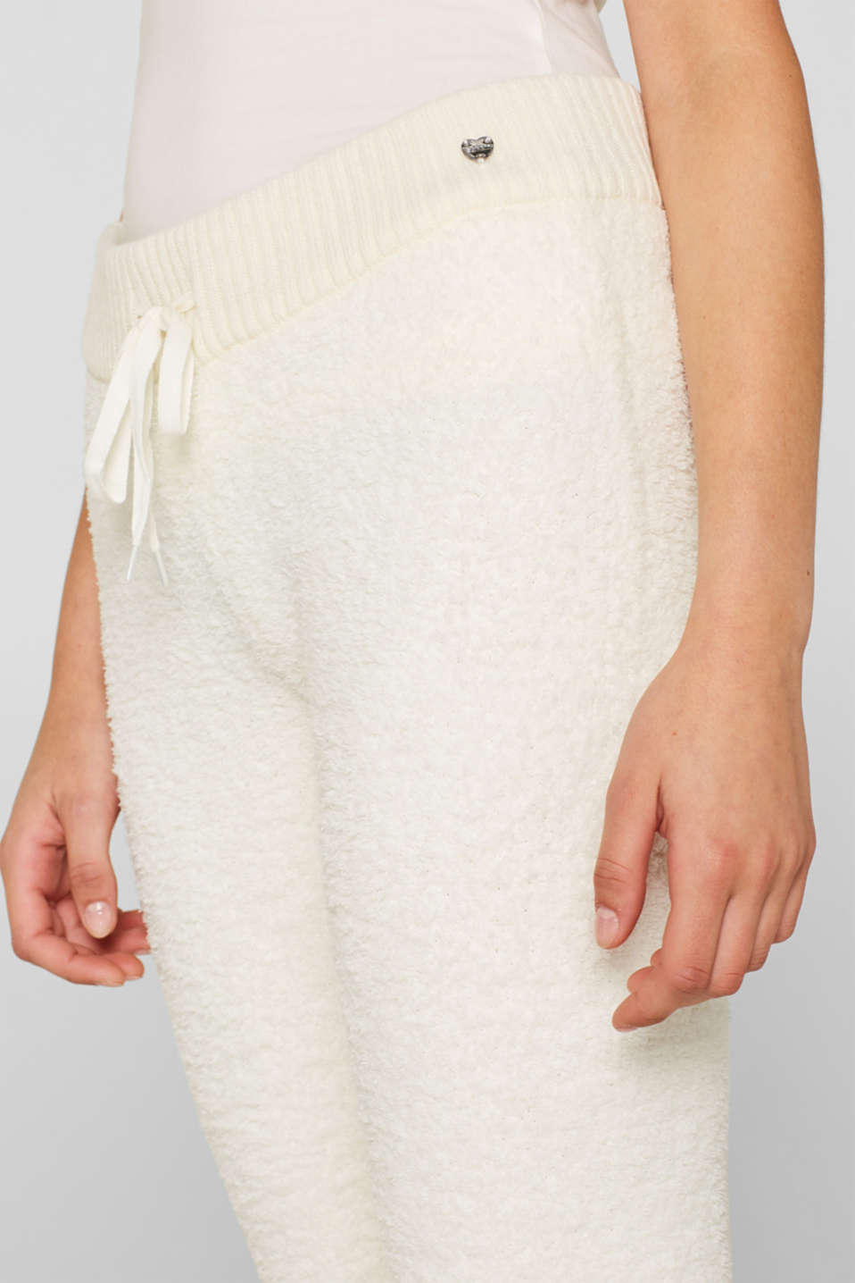 Cosy lounge trousers, OFF WHITE, detail image number 2