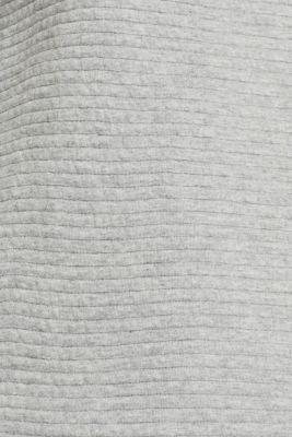 Sweatshirt with a distinctive ribbed texture, MEDIUM GREY, detail