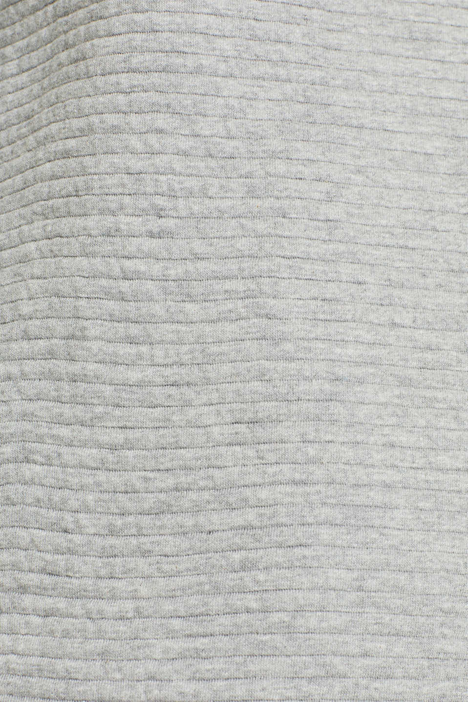 Sweatshirt with a distinctive ribbed texture, MEDIUM GREY, detail image number 4