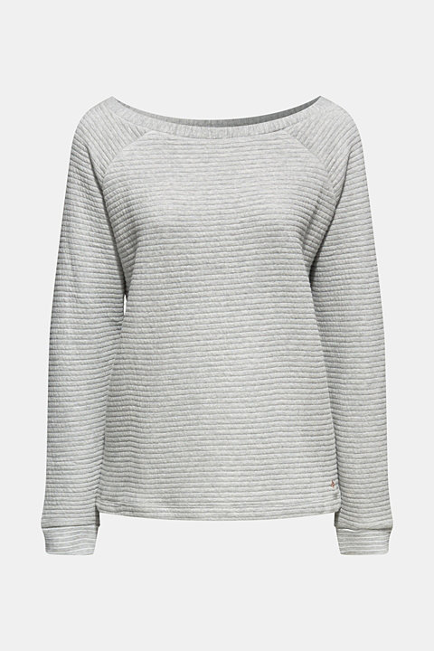 Sweatshirt with a distinctive ribbed texture