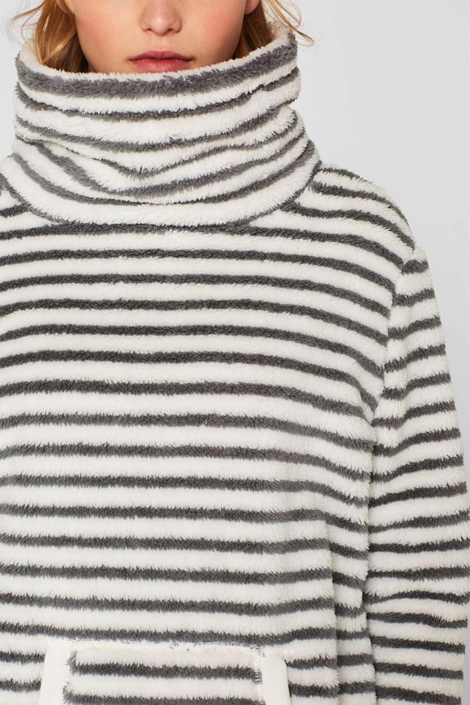 Teddy fur loungewear dress, OFF WHITE, detail image number 3