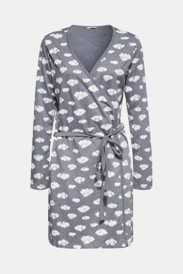 Jersey kimono with print, NAVY, detail