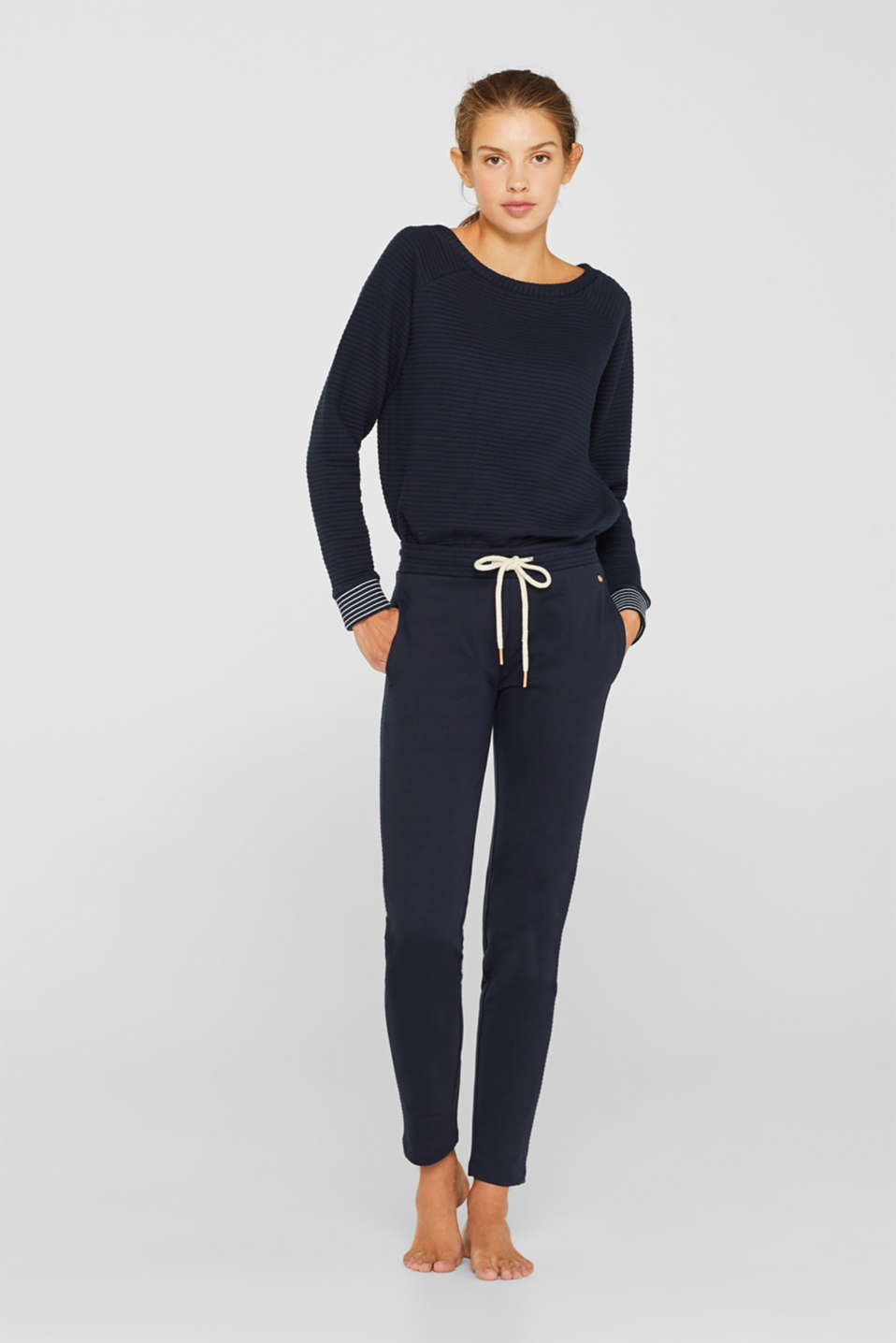 Esprit - Tracksuit bottoms with ribbed details
