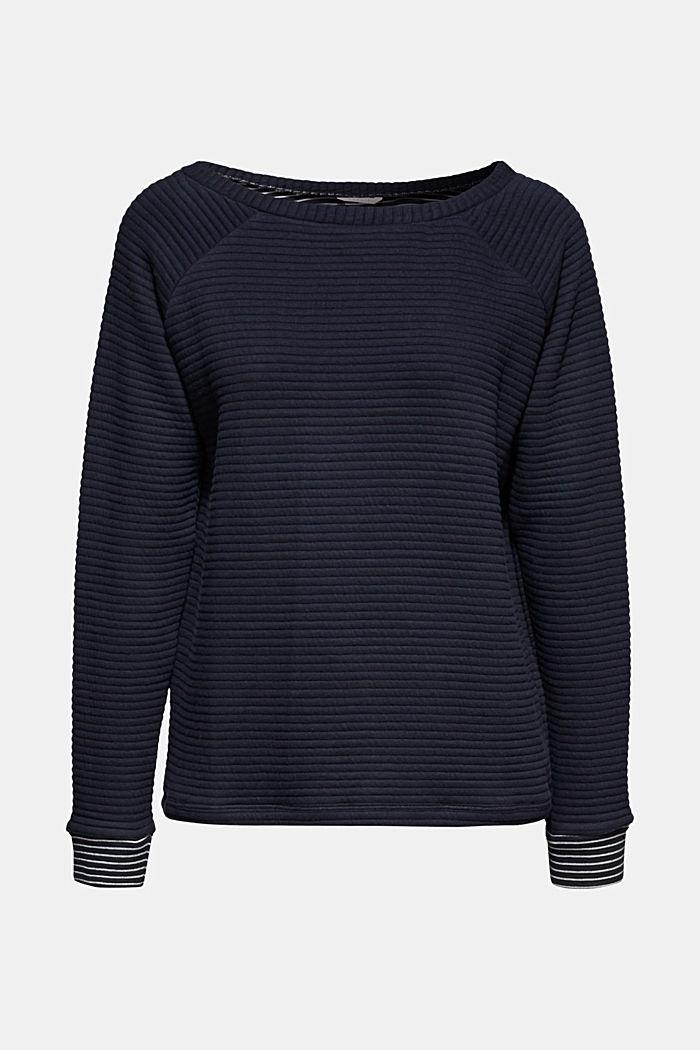 Doubleface-Sweatshirt mit Ripp-Struktur