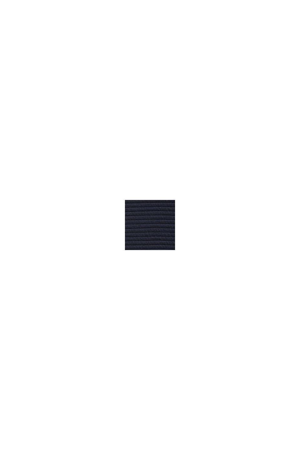 Bluza z dwustronnego materiału o prążkowanej fakturze, NAVY, swatch
