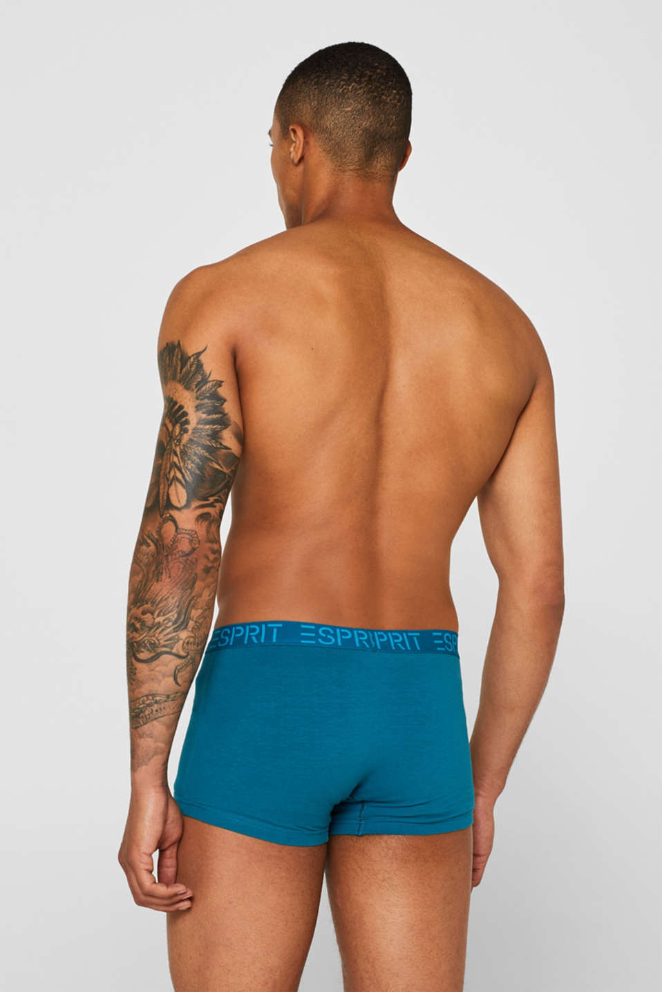 Triple pack of hipster shorts with a logo waistband, DARK TURQUOISE, detail image number 1
