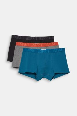 Triple pack of hipster shorts with a logo waistband, DARK TURQUOISE, detail