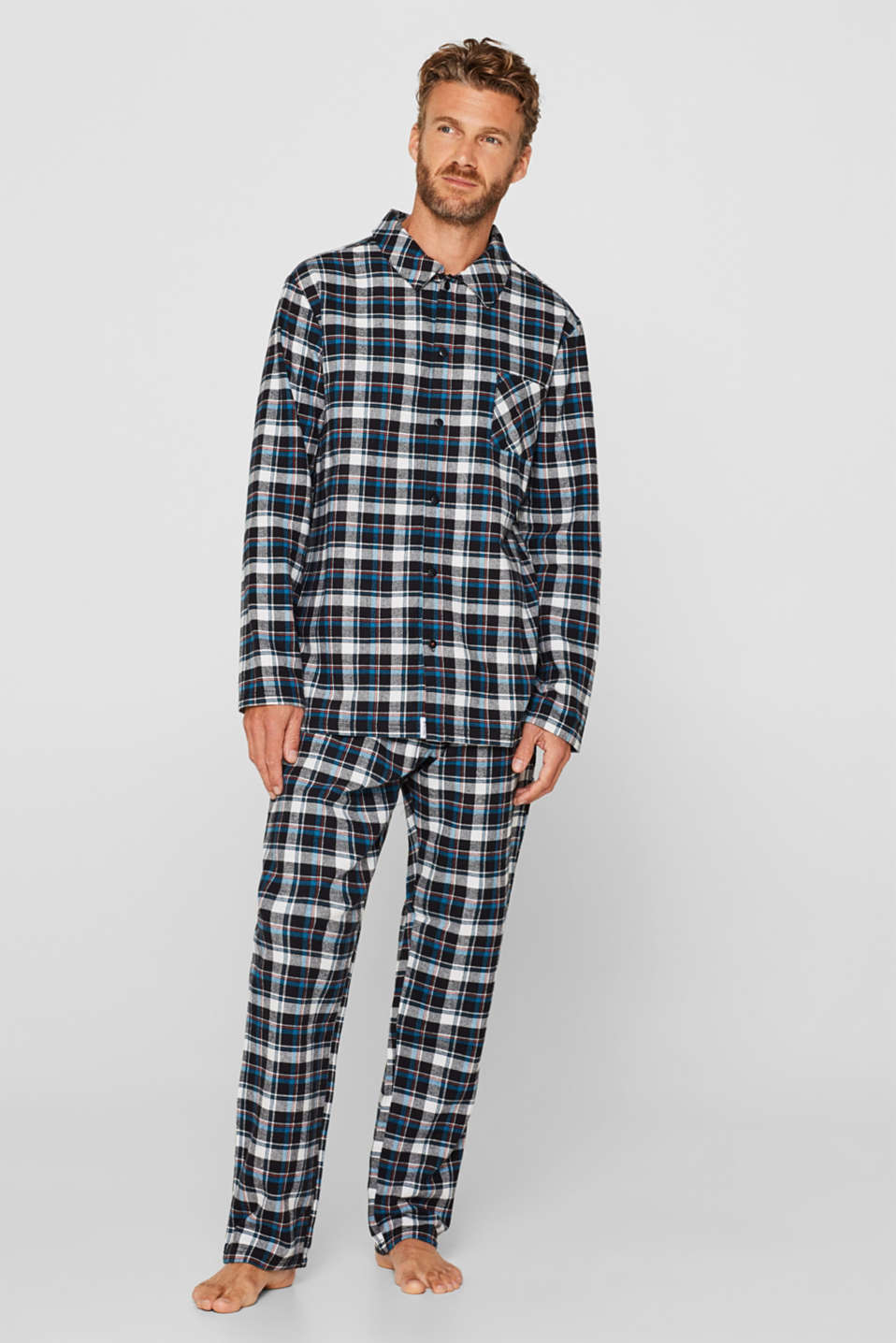 Esprit - Flannel pyjamas, 100% cotton