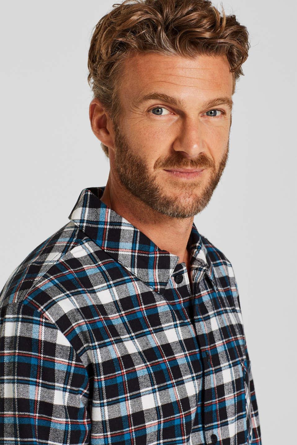 Flannel pyjamas, 100% cotton, BLACK, detail image number 3