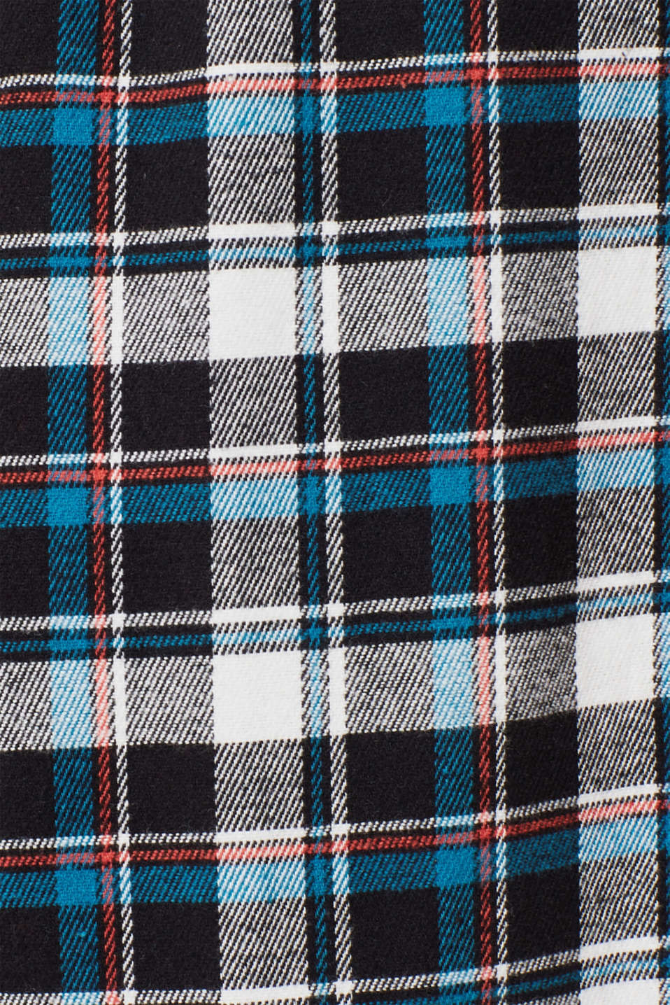Flannel trousers with checks, 100% cotton, BLACK, detail image number 3