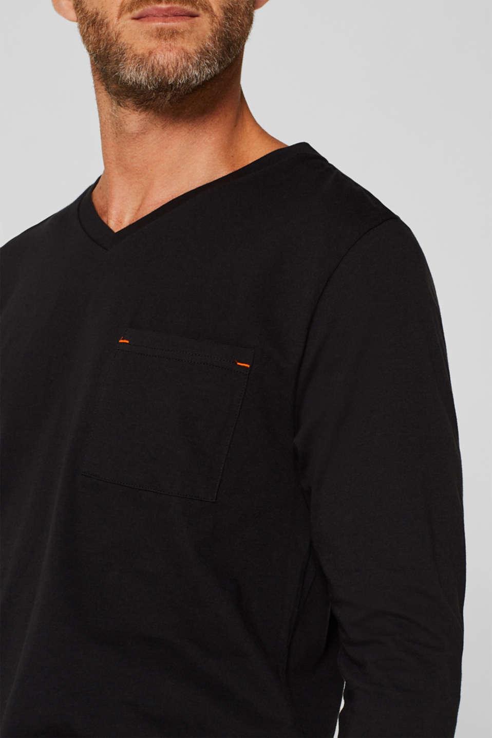 Printed jersey pyjamas, 100% cotton, BLACK, detail image number 3