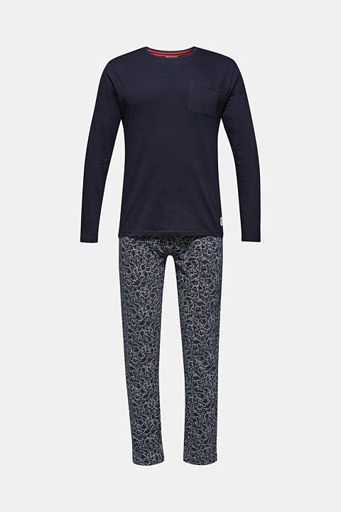 Printed jersey pyjamas, 100% cotton