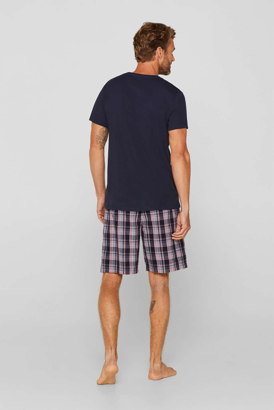 Jersey/fabric pyjamas, 100% cotton, NAVY, detail image number 1